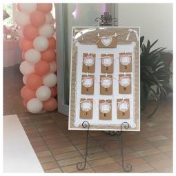 Accessoires Hochzeit, Staffelei, Sitzplan Hochzeit
