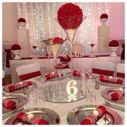 Glasvasen Martini, Glasvasen mieten, Glasvasen Hochzeit