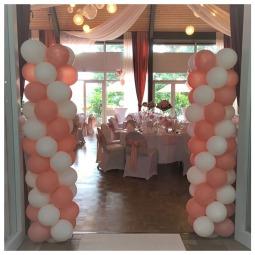 Ballondekoration, Luftballons Hochzeit